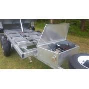 3.5 Tonne 10x5 Galvanised Hydraulic Tipper