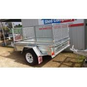 7X4`6 Galvanised box trailer