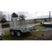 8X5 Tandem Galvanised box trailer (optional rear ramp)