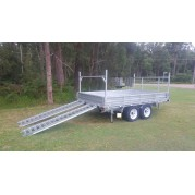 12ft x 7ft Hydraulic Tipping Flat Bed Trailer