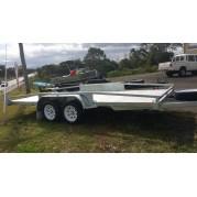 16ft galvanised car trailer